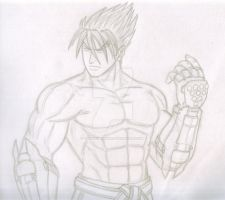 Jin Kazama sketch by TheALVINtaker