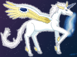 Gift - Sapphire Pegasus by MelodyCrystel