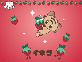 Strawberry Mo Wallpaper by lafhaha