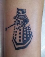 Dalek tattoo by Vangi