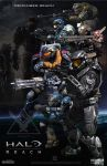 Halo Fan Art Triptych: Halo: Reach Version by rs2studios