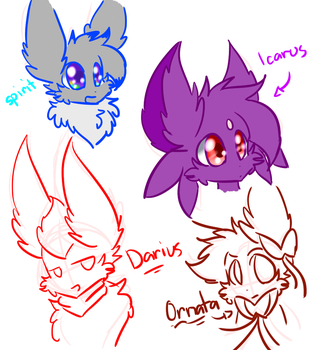 Just some random sketches from da Stream! by Reyna174