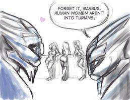 Woman aren't into Turians by LaTopazora