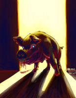 Zombie Pig by chrismoet
