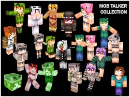 Minecraft Mob Talker Mod Skin Collection by banchouforte