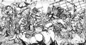 Teenage Mutant Ninja Turtles vs. Foot Clan by jey2dworld