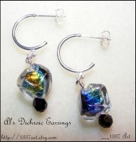 Al's Dichroic Earrings by 1337-Art
