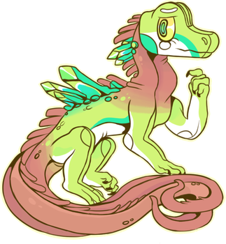 iguana girl by lizzardblackrose