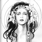 Doodles_Mucha Head by MichaelBair