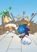 Sonic the Comic 258 Cover by AlkalineAzel
