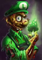 Zombie Luigi by keepsake20