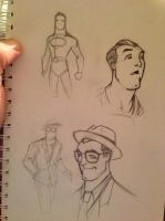 George Reeves Superman Clark by Blrout