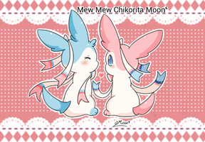 Sylveon Couple by ChikoritaMoon