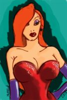 Battle Artist Jessica Rabbit by mothbot