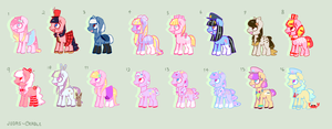 (closed) lots of pony adopts!! by judas-cradle