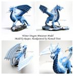 Winter Dragon - DnD Minis by PurlyZig