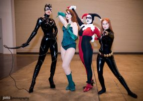 Gotham City Sirens witha Widow by miss-kitty-j