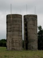Silos by PeaceFrogArt