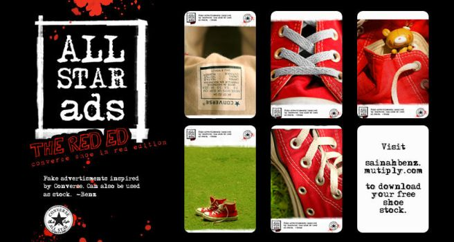 All Star shoe stock : Red by ClumsyCraft