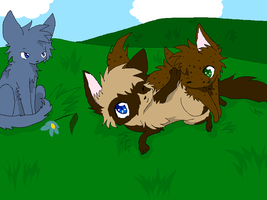 Playing in the Grass by Nixhil