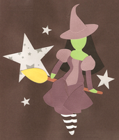 Paper Oz: Elphaba by kirstenlouise