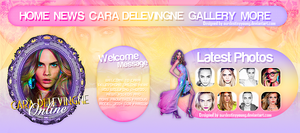 Cara Delevingne Online Layout by OurDestinyYoung