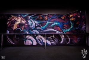 Wall painting. Tattoo Studio - Sin City_4 by EGOR-DOG