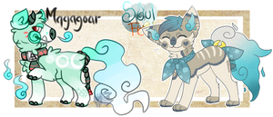(Open 2/2) Magagoar and SoulFox adopt auctions! by SetSaiI