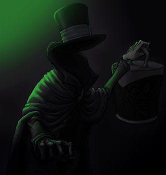 That ghost with the hatbox by KellyM-Mortal