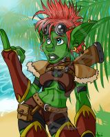Traceback Goblin Hunter by Celestialess