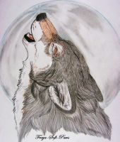 Lone Wolf Howl by Freya-Soft-Paws
