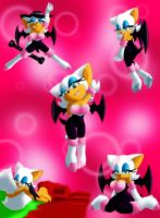 Rouge the Bat-poses by Shadowluver1242
