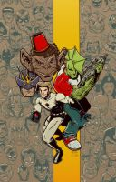 Johnny Raygun Savage Dragon by Lawnz