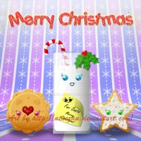 Christmas Cookies and Milk by atnezau