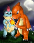 Rhapshie's art of doom! Croconaw_and_charmeleon_by_orenomamushi-d3bykhe