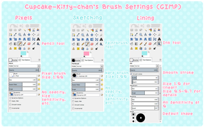 Guide - My Brush Settings in GIMP by Sugary-Stardust
