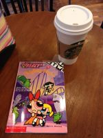 Gangreen Gang books at Starbucks by DarkRoseDiamond123