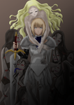 Claymore Lineart Colour by TheSilentChloey