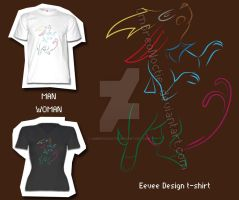 Eevee line T-shirt by UmbreoNoctie
