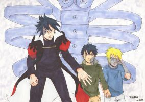 SasuNaru (family) ~ Protection.1 by artluvr103