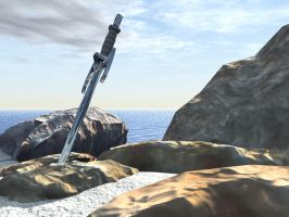 New sword in stones by pyrohmstr