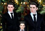 Prom Edward Cullen doll art by noeling