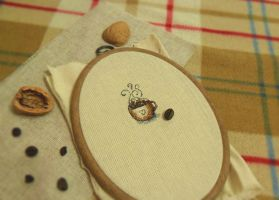 Coffee cross-stitch by LisaRutherfordium