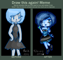 Draw this again Meme- Chibi Masam by Ninfheus