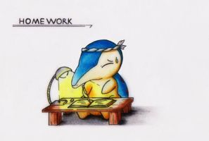 *(COMMISSION) HOMEWORK - Cyndaquil by GTS257-CT