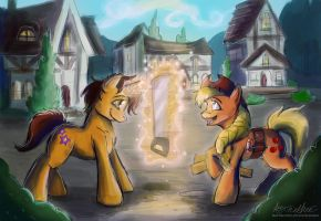 Commission Star Shot offers to Help Apple Jack by Mad--Munchkin