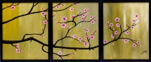Triptych Cherry Blossoms by ChadFullerton
