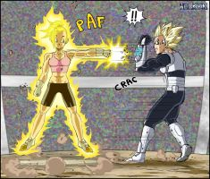 -DBM- Bra VS Eleim by DBZwarrior