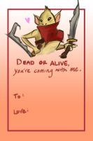 Valentine's Day Bounty Hunter Card by Hawoot