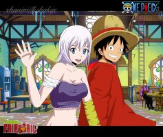OPxFT: Luffy and Lisanna by xHaniMilkshakex